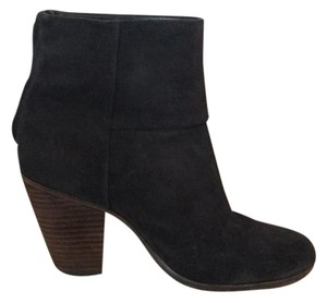 Rag & Bone Charcoal/Black Suede Boots