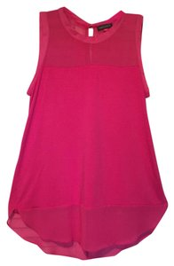 Vince Camuto Mixed Media Top Pink