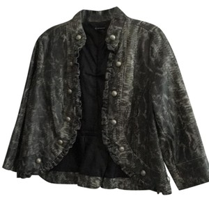 New Directions Snake print Leather Jacket