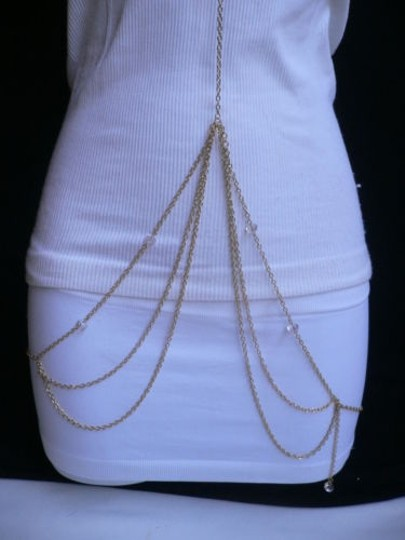 Other Women Gold Neck Metal Body Chain Jewelry Long Trend Necklace
