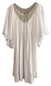Ivana Helsinki short dress White and Gold Lace Summer Comfortable on Tradesy
