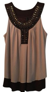 New Directions Top Brown and tan