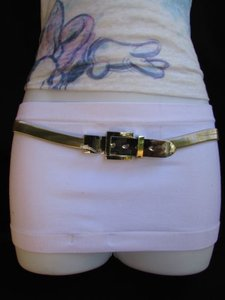 Other Hot Women Hip Waist Thin Silver Metal Fashion Belt Big Buckle 28-48 S-xl