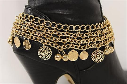 Other Women Fashion Jewelry Boot Bracelet Gold Metal Chain Mini Coins Anklet Charm