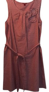 Merona short dress Red gingham on Tradesy