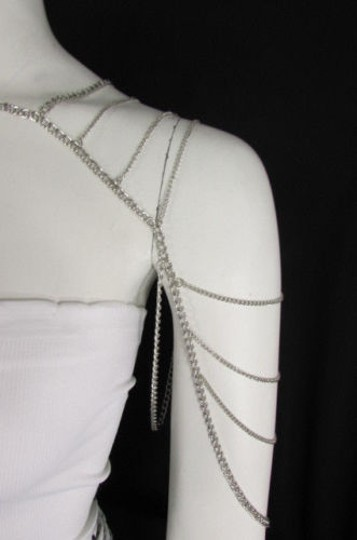 Other Women Silver Metal Shoulder Body Chains Necklace Fashion Jewelry