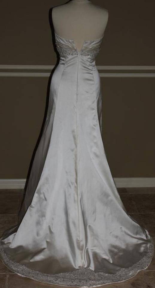 Anne Barge Pearl Beaded Satin Sexy Halter Sweetheart Empire Lf144 ...