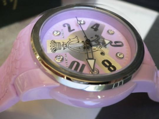 Christian Audigier A Christian Audigier Lavender Purple Quartz Women Watch Ed Hardy Rubber Band
