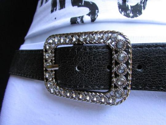 Other Women Flowers Rhinestones Black Moroccan Beads Fashion Belt 29-33