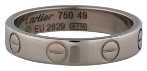 Cartier Cartier 18k White Gold 3.5mm Mini Love Ring Band