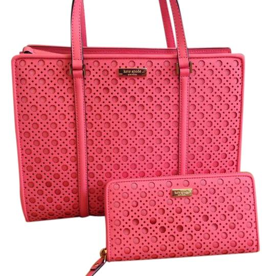 Preload https://img-static.tradesy.com/item/19253479/kate-spade-newbury-lane-caining-romy-and-matching-wallet-pink-saffiano-leather-satchel-0-1-540-540.jpg