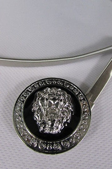 Other Women Hip Waisted Silver Elastic Metal Lion Narrow Fashion Belt 2540 Image 6
