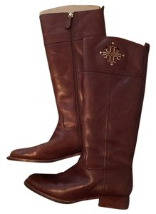 Tory Burch Fall Winter Leather Preppy Brown Boots