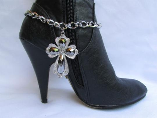 Other Women Chain Links Silver Boots