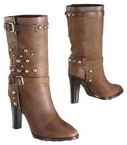Ralph Lauren Collection Studded Leather Brown Boots