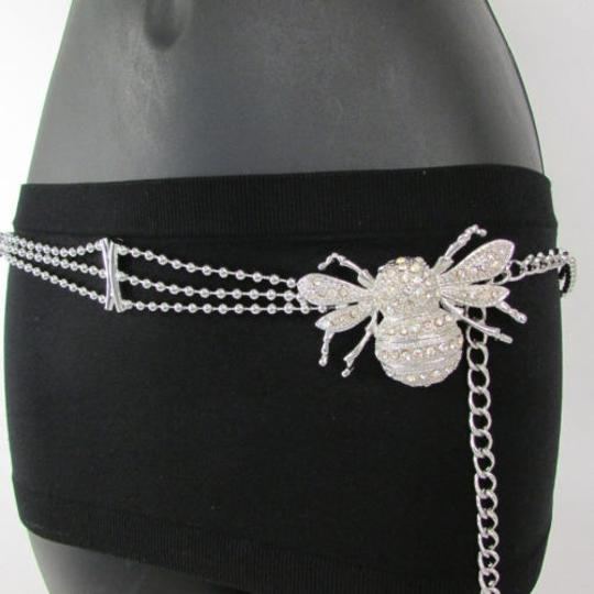 Preload https://img-static.tradesy.com/item/1925372/women-belt-hip-waist-silver-metal-chains-fly-bee-buckle-fashion-insect-0-0-540-540.jpg