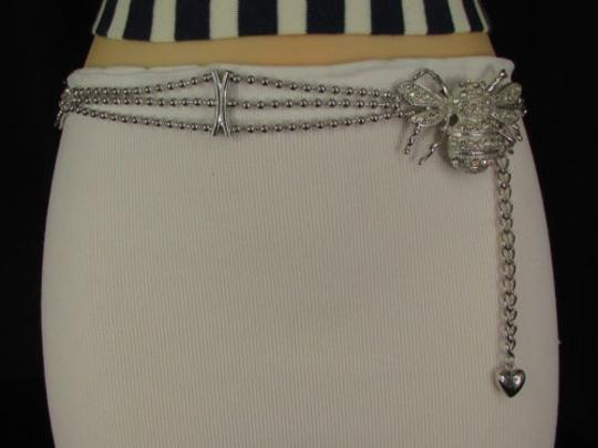 Other Women Belt Hip Waist Silver Metal Chains Fly Bee Buckle Fashion Insect Image 9