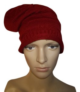 Unknown BRAND NEW Acrylic Knit Hats, Cranberry/Brown/ or Pearl Gray