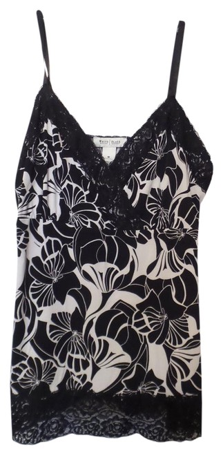 Preload https://img-static.tradesy.com/item/19253848/white-house-black-market-and-art-deco-floral-lace-trim-crepe-knit-tank-cami-blouse-size-8-m-0-2-650-650.jpg