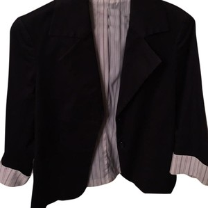 Alice + Olivia Black with white cuffs Blazer