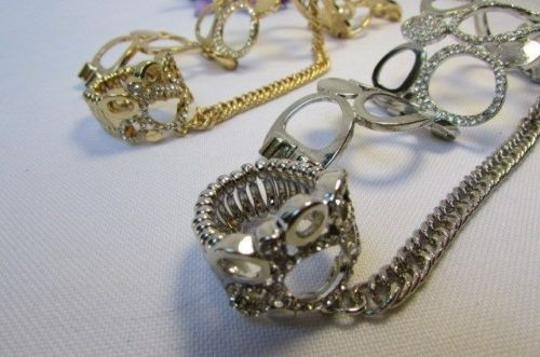 Other A Women Bracelet Hand Chain Fashion Jewelry Slave Ring Rain Drops Gold Silver Image 3