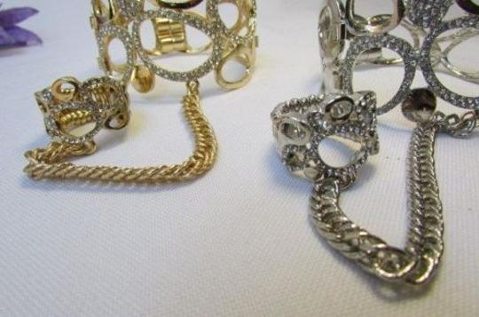Other A Women Bracelet Hand Chain Fashion Jewelry Slave Ring Rain Drops Gold Silver