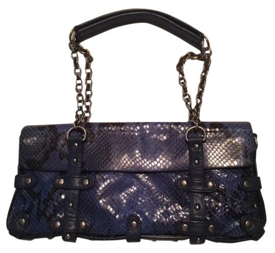 Preload https://img-static.tradesy.com/item/19254124/cynthia-rowley-handbag-black-and-blue-leather-suede-embossed-with-reptile-print-shoulder-bag-0-1-540-540.jpg