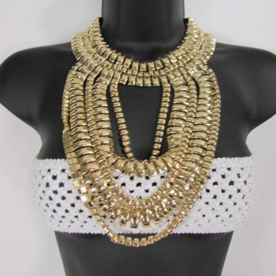 Preload https://img-static.tradesy.com/item/1925413/a-women-necklace-strands-fashion-gold-links-chains-chunky-metal-earrings-set-0-0-540-540.jpg