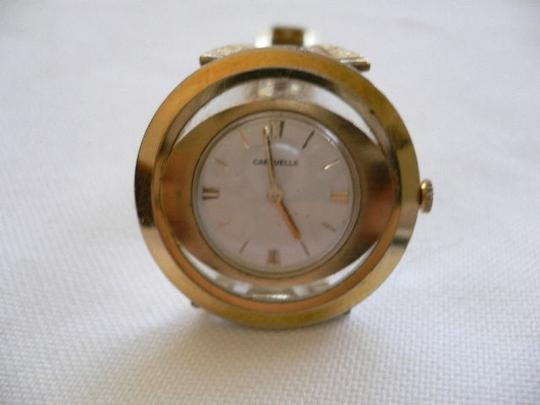 Gruen A Caravelle Women Watch Stainless Steel Wind Gold Plated