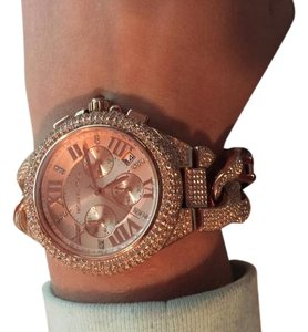 Michael Kors MICHAEL KORS WOMEN'S CAMILLE SWAROVSKI CRYSTAL ROSE GOLD TONE WATCH