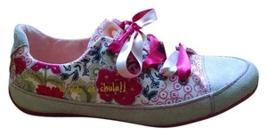 Desigual Low Top Floral Suede White, pink Athletic