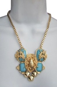 Other Women Trendy Necklace Gold Chain Flies Bug Blue Black Bead Earring