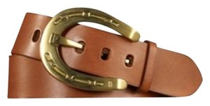 Ralph Lauren Black Label New Ralph Lauren Black Label Brass Horseshoe Buckle Leather Belt
