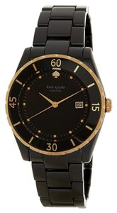 Kate Spade New Kate Spade Women's Black Ceramic Gold Seaport Grand Watch 1YRU0772