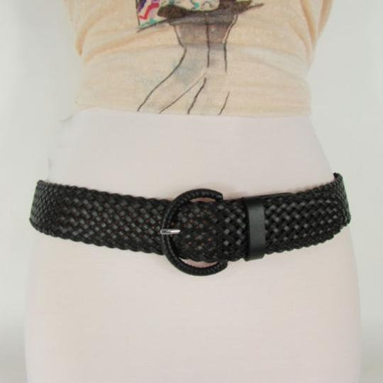 Banana Republic A Banana Republic Women Braided Black Brown Faux Leather Fashion Belt