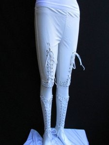 Women Trendy Off White Capri/Cropped Pants Ivories