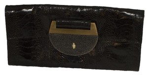 Ray Augousti black / gold Clutch