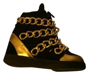 Jeffrey Campbell Sneaker Gold Black Chains Black, gold Wedges