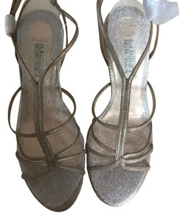 Badgley Mischka Stiletto Sandals Wedding Silver, gold, rose gold Formal