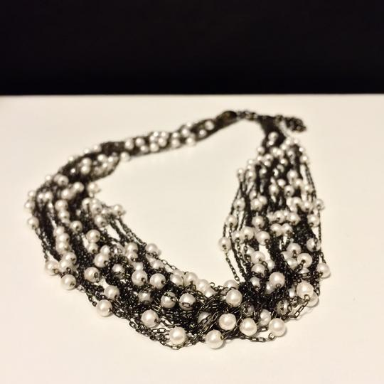 Other Multi Strand Faux Pearl And Iron Necklace