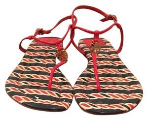 Tory Burch Patent Lobster Sandals