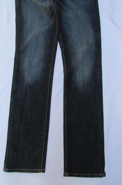 American Eagle Outfitters Women Fashion Denim Dark Blue Straight Leg W30 L32 Skinny Jeans