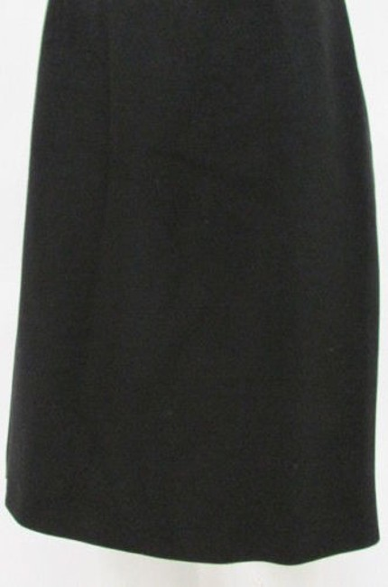 Rena Lange Women Wool Blend Classic Pencil Straight Lines Skirt Blacks