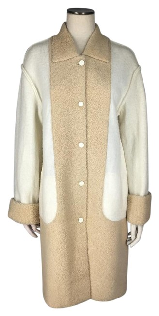 Preload https://item3.tradesy.com/images/fendi-ivory-and-beige-newoldstock-vintage-colorblock-kiddassia-sweater-m-l-fur-coat-size-12-l-19255147-0-1.jpg?width=400&height=650