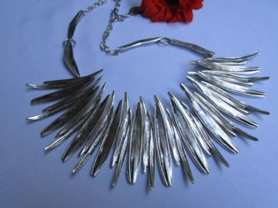 Other A Women Metal Pins Silver Chains Statement Fashion Necklace Handmade Turkey Image 1
