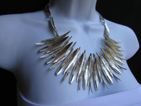 Other A Women Metal Pins Silver Chains Statement Fashion Necklace Handmade Turkey Image 10