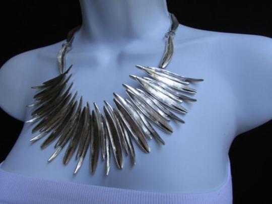 Other A Women Metal Pins Silver Chains Statement Fashion Necklace Handmade Turkey Image 4