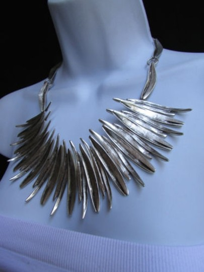 Other A Women Metal Pins Silver Chains Statement Fashion Necklace Handmade Turkey Image 6