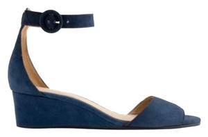 J.Crew Size 7 Free Shipping Navy Blue Wedges