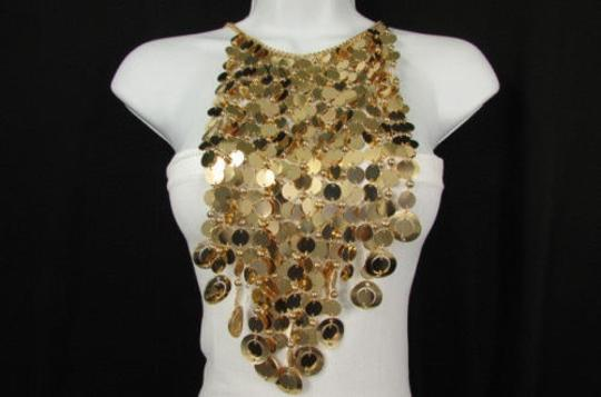 Other Women Gold Metal Ball Multi Circles Strands Chains 20 Long Fashion Necklace Image 1